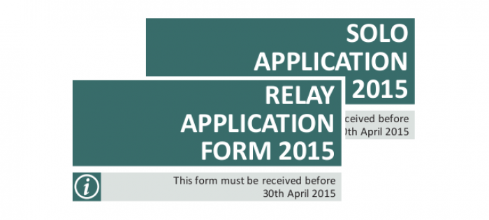 2015 Solo and Relay swim application forms