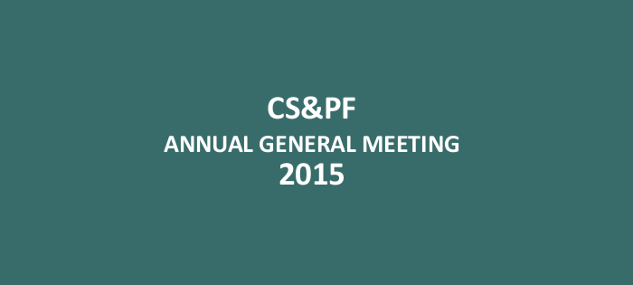 AGM Notice to CS&PF Members