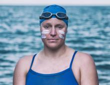 First 4-way Channel Swim