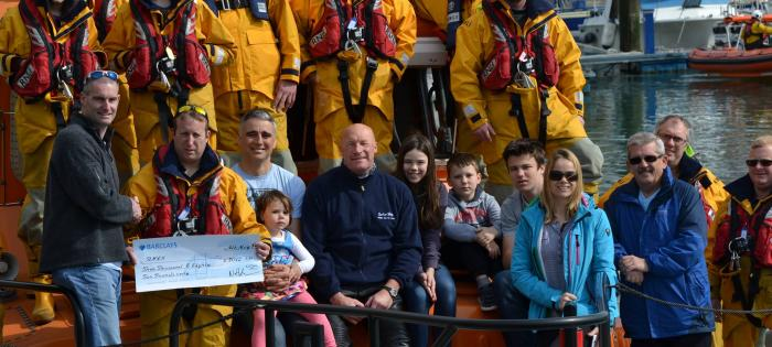 Cheque from the CSPF presented to the RNLI