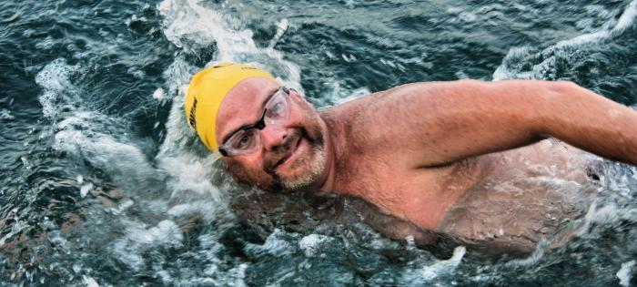 EC swims during Olympic 10km